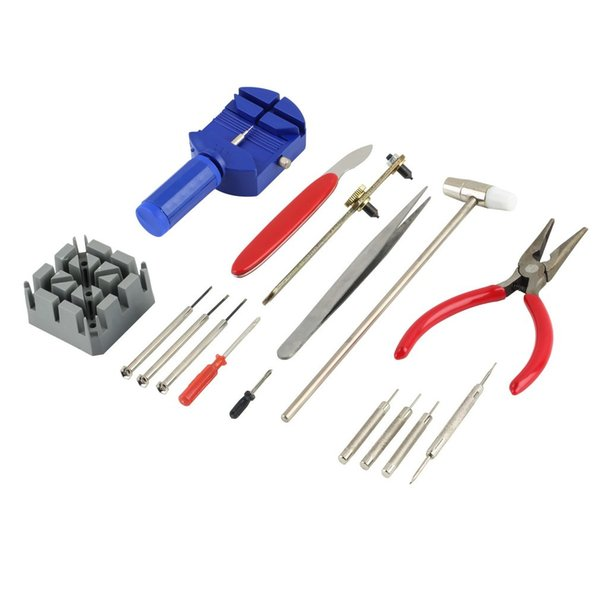 16pcs Adjust Watch Repair Tool Kit Wrist Strap Band Pin Strap Link Remover Fix Back Opener Remover watch repair tools