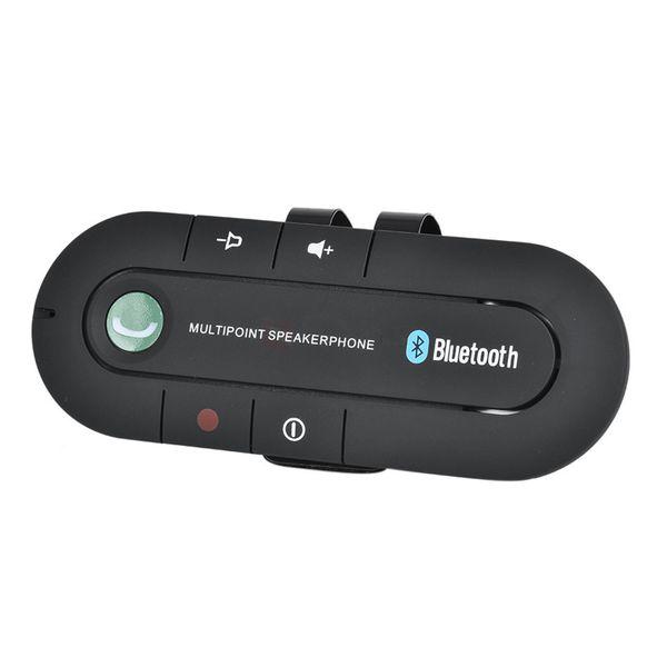 Bluetooth Handsfree Car Kit Wireless Bluetooth Receiver Speaker Phone MP3 Music Player Sun Visor Clip Speakerphone with Car Charger