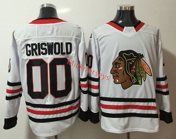 buy popular 16f6c 961a4 2019 Mens The National Lampoon'S Vacation Film Clark Griswold Jersey #00  Clark Griswold Christmas Vacation Chicago Blackhawks Movie Hockey Jersey  From ...