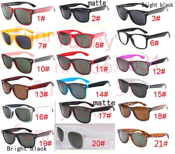 Bonne qualité Marque Designer Mode Hommes Lunettes de soleil Protection UV Sport de plein air Vintage Femmes lunettes de soleil Rétro Lunettes 18 couleurs sans shippin