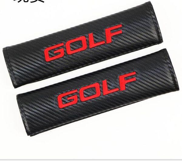 Logotipo 3D de fibra de carbono para la cubierta del cojín del hombro de la seguridad del cinturón de seguridad del carro de GOLF bordada