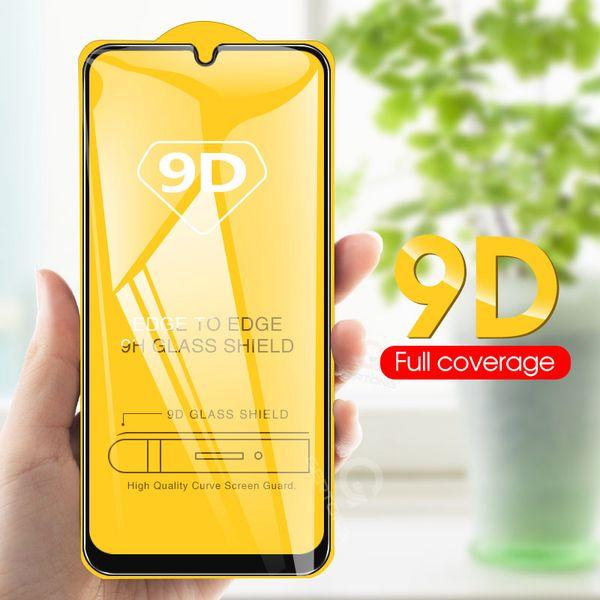 9d cobertura completa protetor de tela de vidro temperado para iphone x87 s7 a7 s10 completa cola de cola a borda para huawei p30 durável reforçada