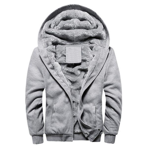 Bolubao New Men Hoodie Sweatshirt Fashion Classic Solid Color Hood Casual Thick Warm Tracksuit Coat Fleece Lined Male Hoody