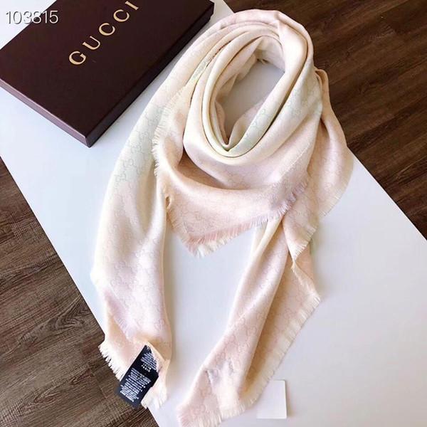 High quality Brand Square Scarf size 140x140cm Women 2019 Spring and autumn Scarf Warm Silk cotton Scarves Plaid Shawls B5005