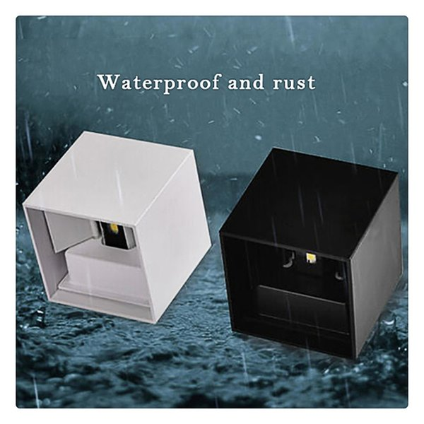 Square Wall Lamp Indoor and Outdoor Aluminum Waterproof LED Adjustable Light Die-casting Polishing Paint High Quality Long Service Life