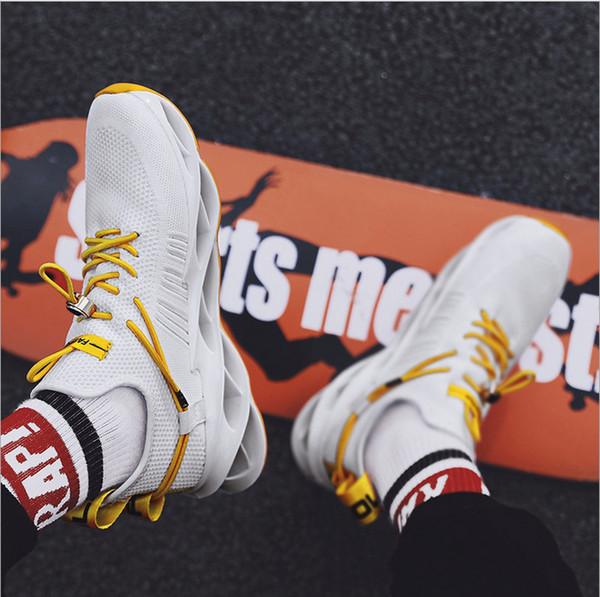 dentelle de la marque de mode cool HOT Style5 simples coloré blanc noir rouge or respirante occasionnels Chaussures hommes doux trainer sport Chaussures de sport 36-44
