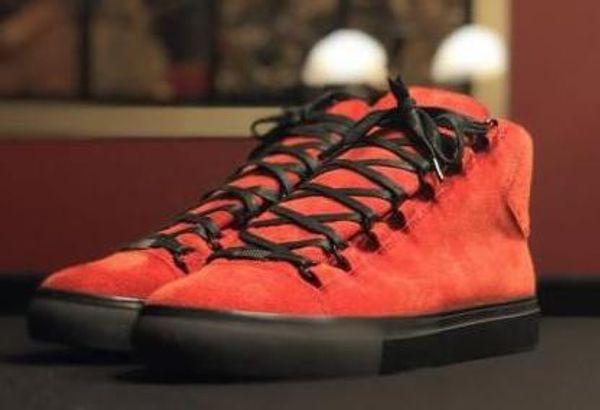 Uomini Classic Leather in vera pelle Arena Brand Flats Sneakers uomo Scarpe alte Top Fashion Casual Lace Up Shoes Big 8gfh