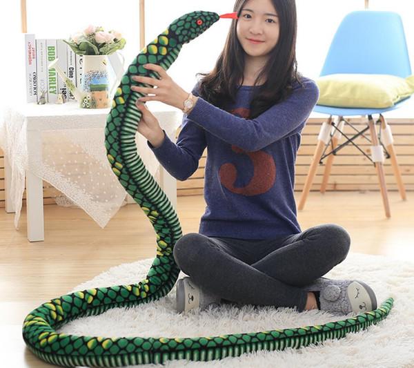 Children Plush Toy Python Snake doll large whole person funny python plush toy simulation animal Stuffed Animals Plush Toys