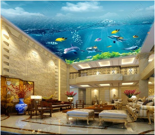 Custom Large 3d Ceiling Photo Wall Paper Hd Sunshine Underwater World Ceiling Mural Decorative Background Wallpaper For Walls 3d Free 3d Desktop