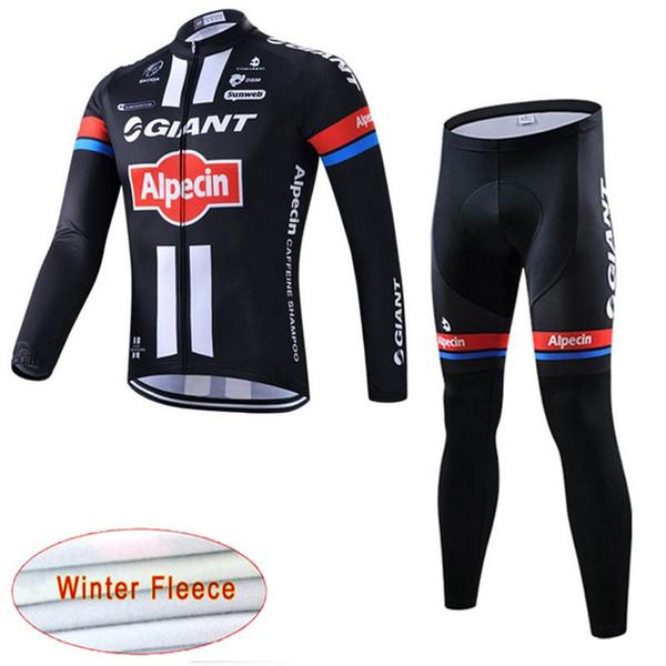 Ensemble pantalon en jersey (bavette) en molleton thermique pour l'équipe d'hiver GIANT 2018