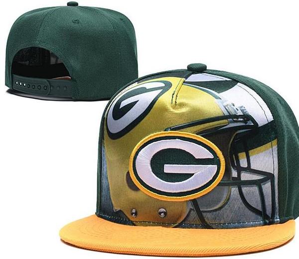 Sıcak Satış GREEN BAY ŞAPKA GB Amerika Spor Snapback Tüm Takım beyzbol futbol Şapka Hip Hop Snapbacks Cap indirim Ayarlanabilir Spor şapka 01