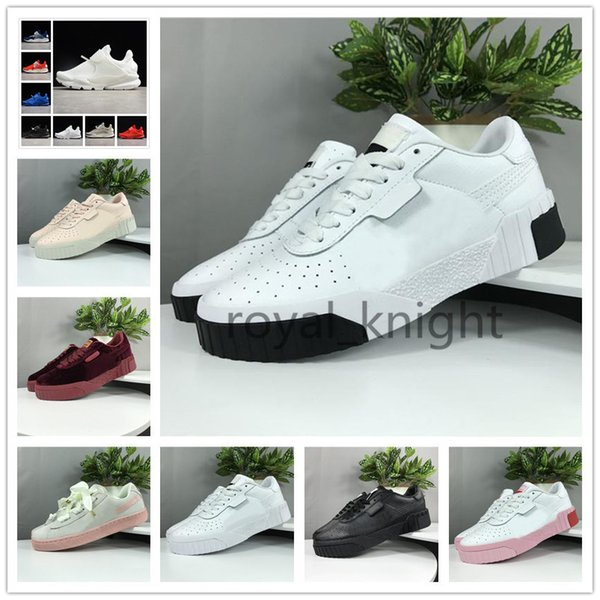 Clyde Cali Wins Classic Fashion All-match Womens Casual Sneakers Skateboarding Luxury Designer Perforated Bowknot Trainers Shoes Size 36-40