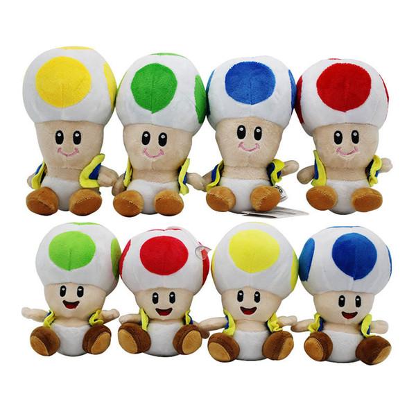 17cm Super Mario Plüschtiere Cartoon Puppen Super Mario Pilzkopf Kuscheltiere für Baby Weihnachtsgeschenk