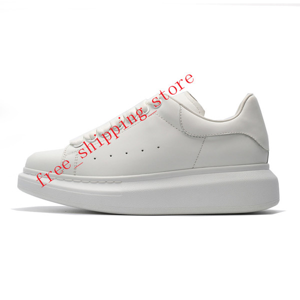 2019 Designer Luxury Brand 3M reflective white black leather casual shoes for girl women men pink gold red fashion comfortable flat sneakers