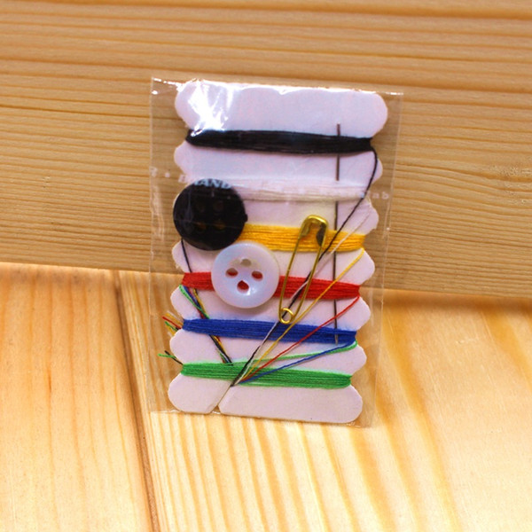 best selling DHL Free ship mini sewing kit travel sewing kits embroidery needlework 6 threads sewing kit mending kit