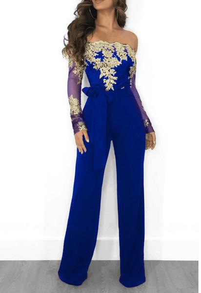 blue gold jumpsuit