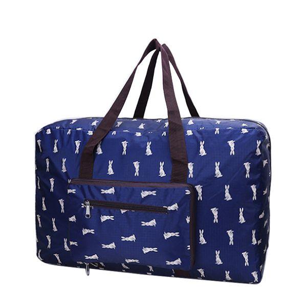 Wohlbege Oxford Cloth Travel Bag Rabbit Fox Large Capacity Portable Folding Luggage Bag Travel Bag Multicolor Optional