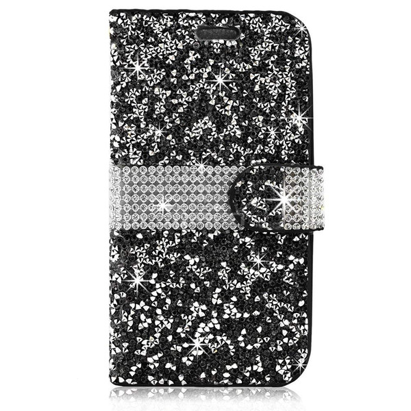 Accessories Bling Diamond PU Leather Wallet Phone Case For IPHONE XS MAX XR X XS 7 PLUS 8 PLUS 6 7 8