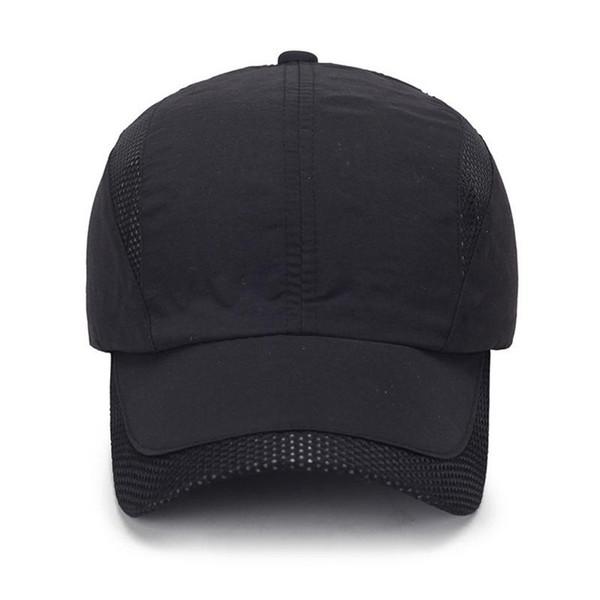 Gorra negra estilo sombrero de béisbol anti-sol al aire libre Sombrero de  nylon ultra 4ee1f524f0b