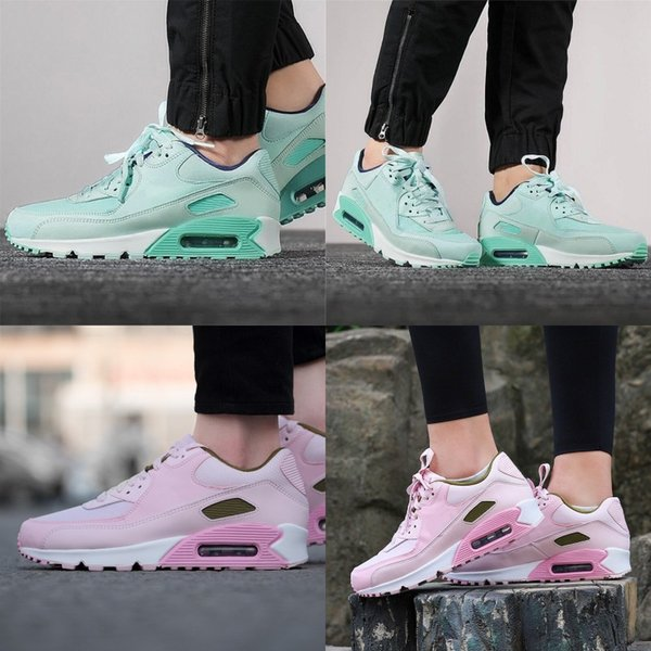 Newest 90 Woman Teal Tint Tropical Twist Designer Running Shoes Pink Foam Pink Rise 90s Ladies Fashion Sport Sneakers Best Quality With Box