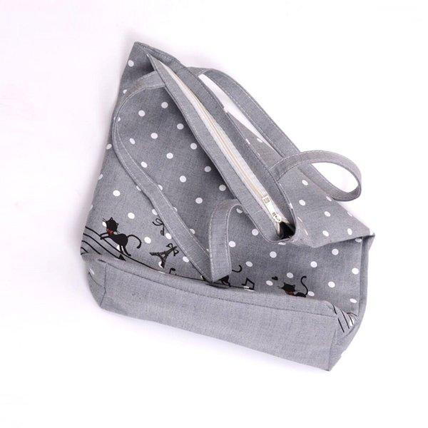EXCELSIOR Women's Cute Cartoon Music Cats Printed Shopping Handbag Ladies One Shoulder Canvas Bags Female Beach Bag Sac usa
