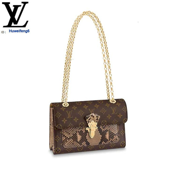 libobo6 N92961 VICTOIRE Python Shoulder Bags Women HANDBAGS ICONIC BAGS TOP HANDLES SHOULDER BAGS TOTES CROSS BODY BAG CLUTCHES EVENING