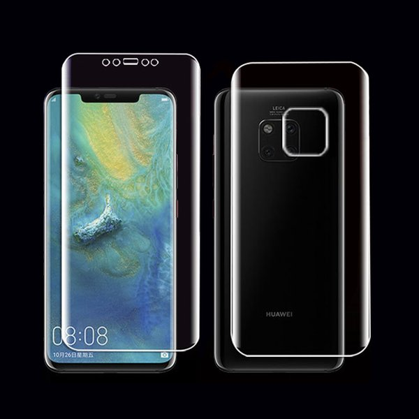 CCDZ Front Back Ultra-thin Full Cover Soft Hydrogel Film For Huawei Mate 20 Pro Screen Protector For Mate 20 X Protective Film