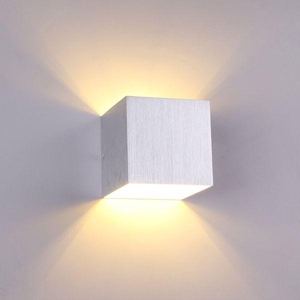 Acquista Applique Da Parete LED Quadrato Applique Da Parete Camera Da Letto  Interna AC85 265V 3W Bianco Caldo Comodino Balcone Applique Lampade ...