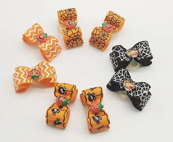 Handmade Dog Bow Hair Bows For Dogs Pet Grooming Accessories Products Halloween pet dog hair accessories