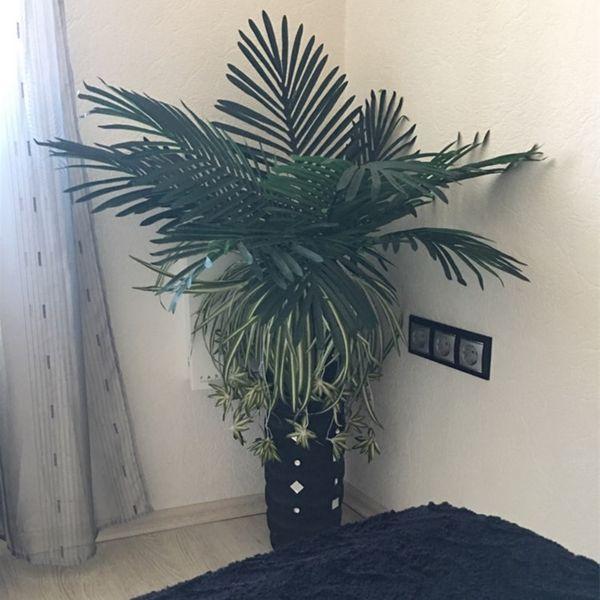 69cm Long Artificial Palm Leaves 10pcs Green Plants Decorative / Artificial Flowers for Party Decoration Wedding Decoration C18112601