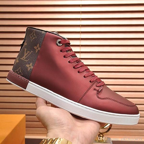 Mode homme Souliers simple plate-forme Chaussures de sport Chaussures de sport pour hommes avec la boîte originale Bottines espadrille en cuir pour hommes Livraison rapide