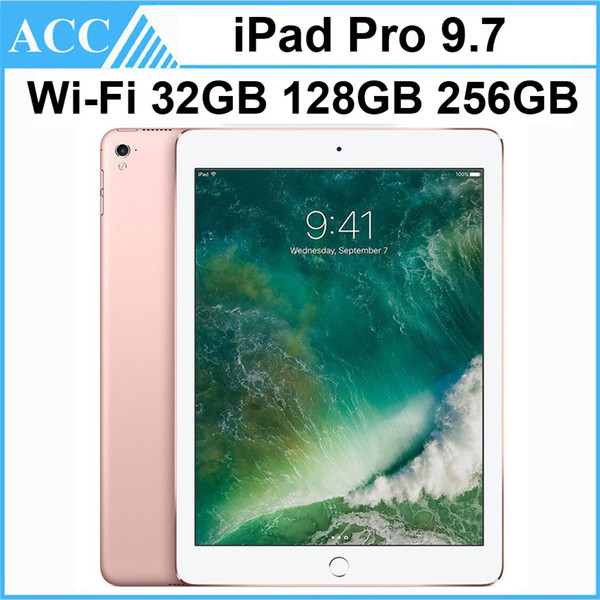 best selling Refurbished Original Apple iPad Pro 9.7 inch 2016 WIFI Version IOS A9X Chipset Dual Core 2GB RAM 32GB 128GB 256GB ROM Tablet PC DHL 1pcs