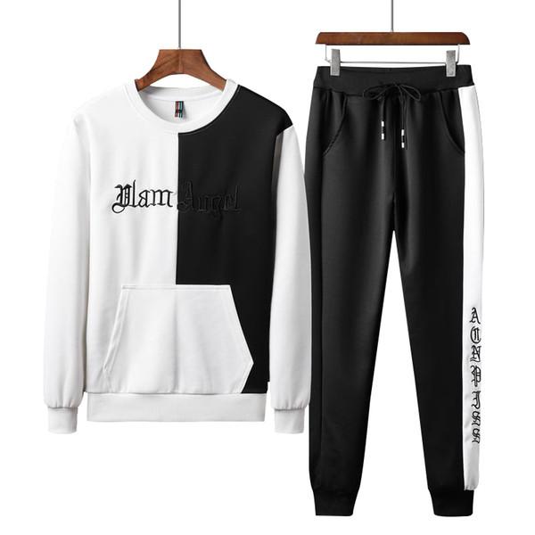 Tute da uomo di design Felpe con cappuccio nuovi Uomini Sportwear Mens Designer 2019 Luxury design suit M-4XL abiti di moda di lusso Ricamo