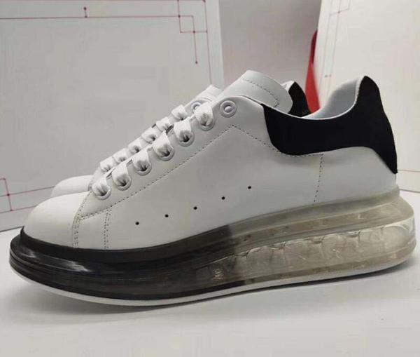 Lates blanc Casual Chaussures à lacets Designer Confort hommes Sneakers Cuir Semelle de coussin d'air large Chaussures Hommes Baskets Extrêmement Durable Stab10C252