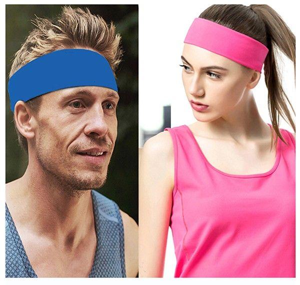 35 colors Yoga Hair Bands Sport Elastic Headbands solid color Sports Yoga Accessory Dance Biker Wide Headband Stretch Ribbon Cotton Hairband