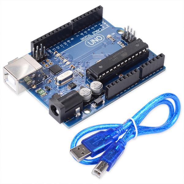 UNO R3 MEGA328P ATMEGA16U2 Development Board USB Cable Compatible for Arduino