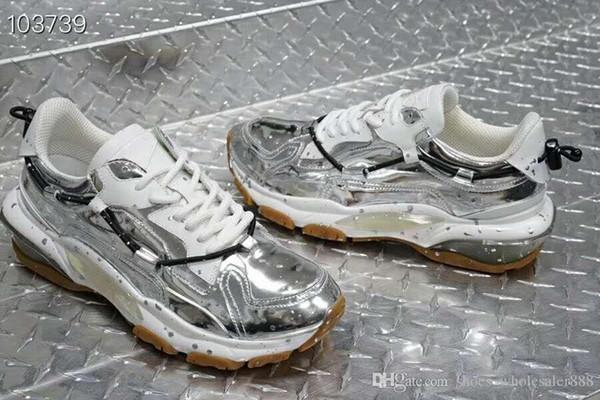 19 sapatilhas originais da edição dos homens superiores da única edição todas as sapatas importadas do lazer do couro brilhante do lazer a recreação e esportes exteriores