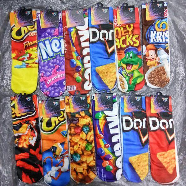 top popular 3D Printed Sock Cartoon Socks Cheerleader Basketball Long Socks Girls Boys Food 3d Printing Adult Sports Stocking Customized 2021