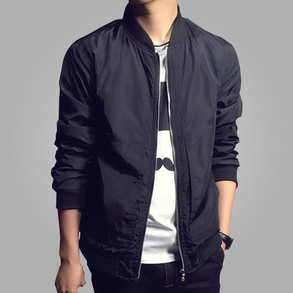 2019 Осень Новая Мода Bomber Jacket Мужчины Повседневная Тонкая Куртка мужская Пальто Ветровка Jaqueta Masculina