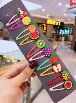 top popular Baby hair clip newborn child card age female baby Korean hair accessories flower princess bald hair clip set 2019