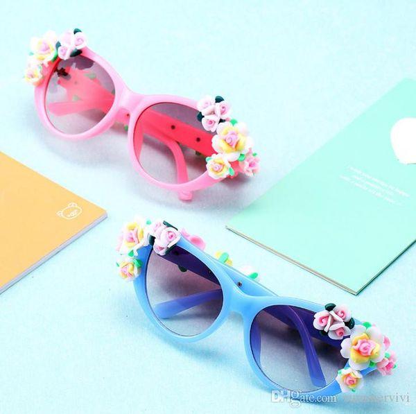 Девочки солнцезащитные очки бутик детские очки в форме цветка детские аксессуары для принцесс солнцезащитный крем для детей радиационные очки YA0159