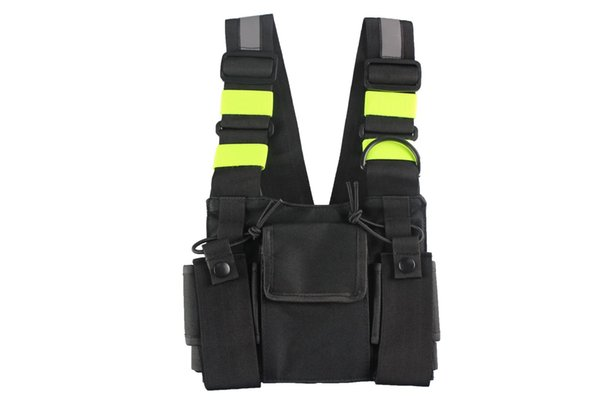 Chest Harness Front Pack Pouch Holster Carry Case for Baofeng UV-5R UV-82 UV-9R UV-XR TYT TH-UV8000D MD-380 Walkie Talkie