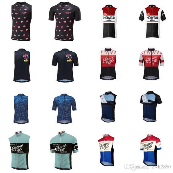 Morvelo squadra ciclismo manica corta / jersey senza maniche Maglia da corsa bici da corsa abbigliamento Quick Dry uomo Ropa ciclismo D0706