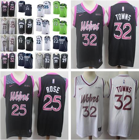 the best attitude d8bc9 03575 2019 2019 Men Minnesota Jersey Derrick Kevin Karl Anthony Andrew  Timberwolves Rose Garnett Towns Wiggins Top Quality 100% Jerseys From  Huang8899, ...