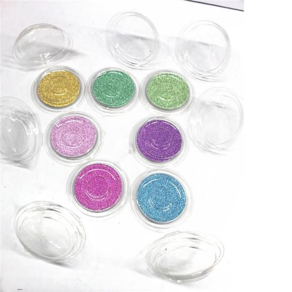 Cofanetto per confezione Casse trasparenti per ciglia rotonde con scheda Nuovo materiale Cosmetici confezione vuota Strumenti per trucco Box R0135