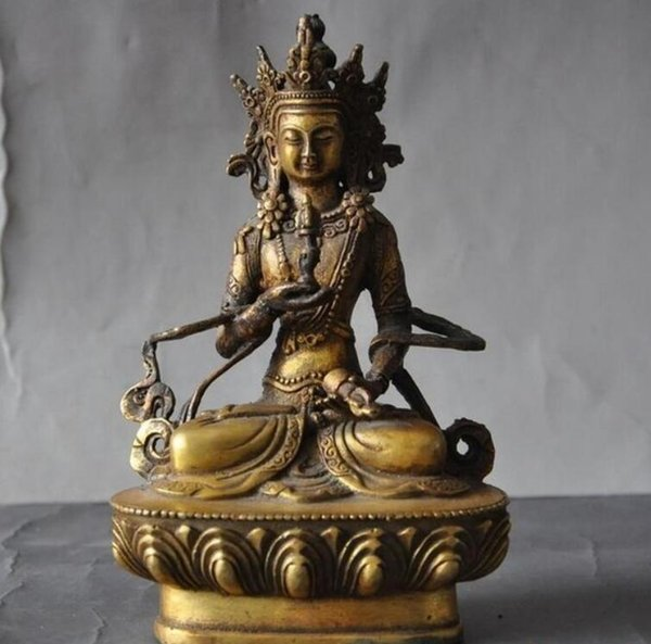 ancien bouddhisme chinois statue de Bouddha Vajrasattva tara Kwan-Yin GuanYin