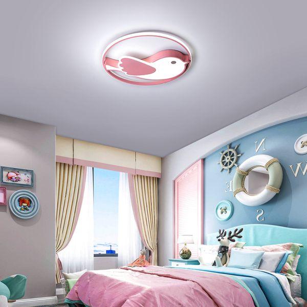 Kronleuchter beleuchtung für wohnzimmer schlafzimmer cartoon rosa blau vogel decke kronleuchter licht für kinder kinder jungen mädchen schlafzimmer