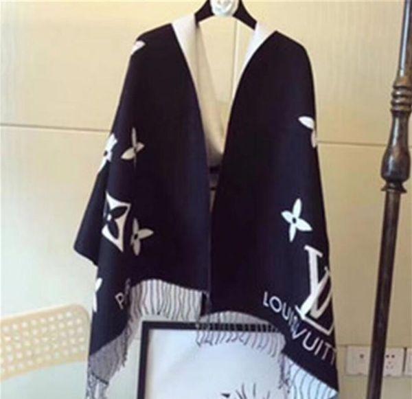 Echarpe design hiver en cachemire Pashmina, mode féminine, vêtements à double épaisseur, couvertures thermiques, foulards foulards foulards en coton cachemire
