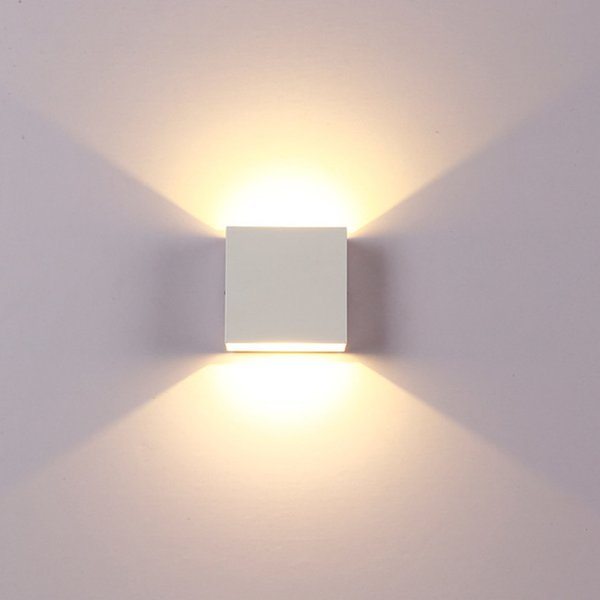 LED ChicSoleil 6W Lâmpadas de parede Praça interior Up / instruções Down Wall Light