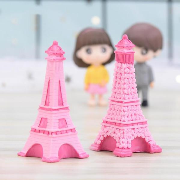 Torre Eiffel Resina Artesanía Miniatura Jardín de Hadas Decoración de la Habitación de Escritorio Micro Paisaje Accesorios Cactus Jardinera Artículos de Novedad de Regalo H255